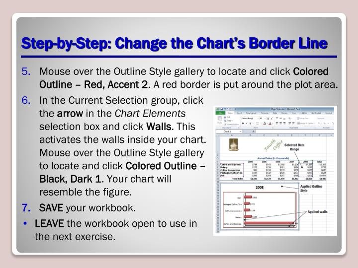 Step-by-Step: Change the Chart's Border Line