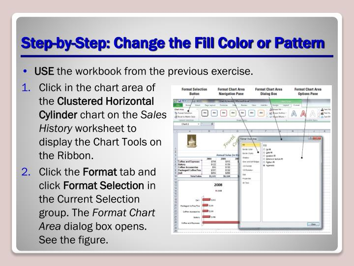 Step-by-Step: Change the Fill Color or Pattern