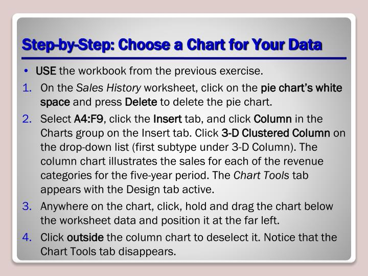 Step-by-Step: Choose a Chart for Your Data