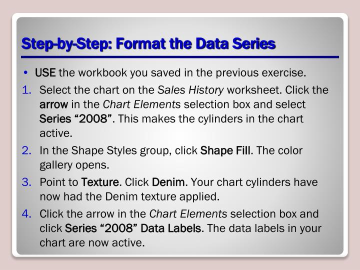 Step-by-Step: Format the Data Series