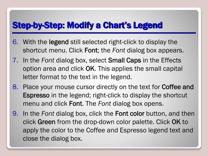 Step-by-Step: Modify a Chart's Legend