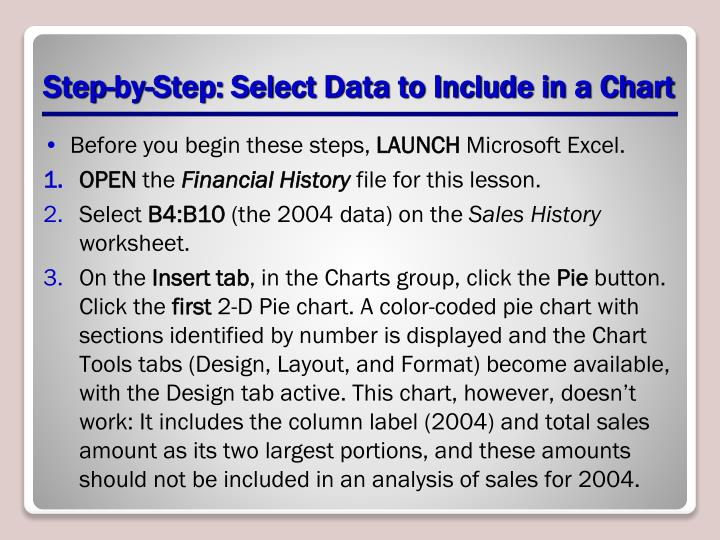 Step-by-Step: Select Data to Include in a Chart