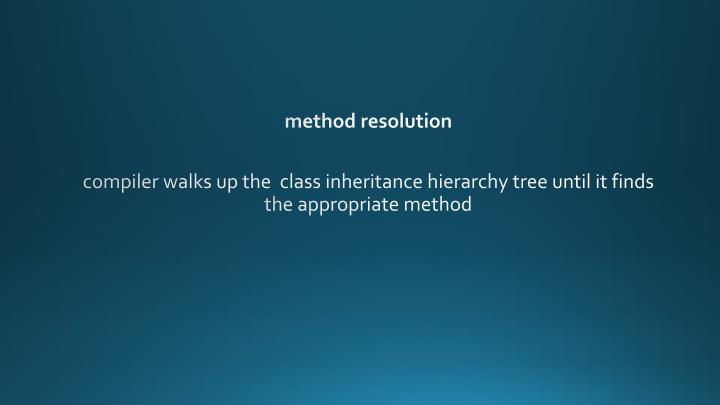 method resolution