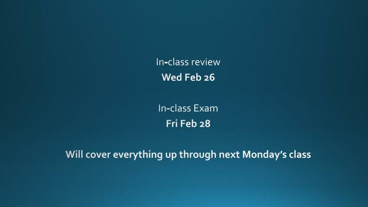 In-class review