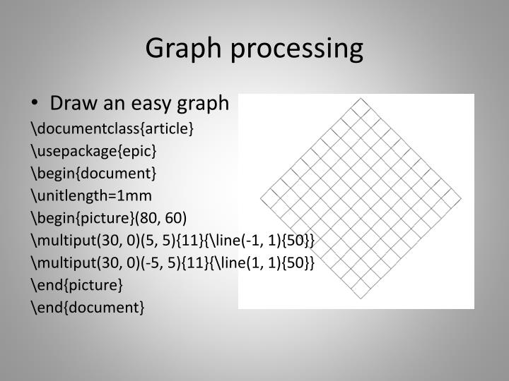 Graph processing