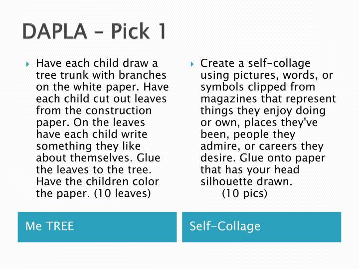 DAPLA – Pick 1