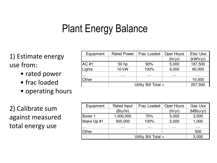Plant Energy Balance