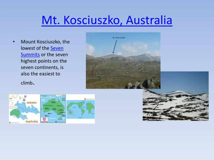 Mt. Kosciuszko, Australia