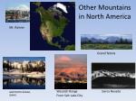 other mountains in north america