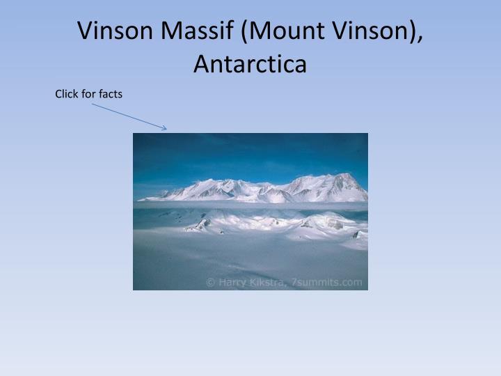 Vinson Massif (Mount Vinson), Antarctica