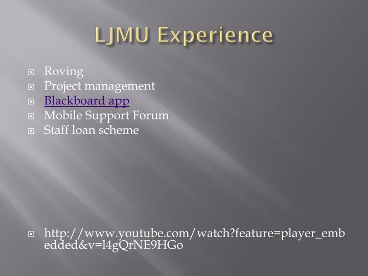LJMU Experience