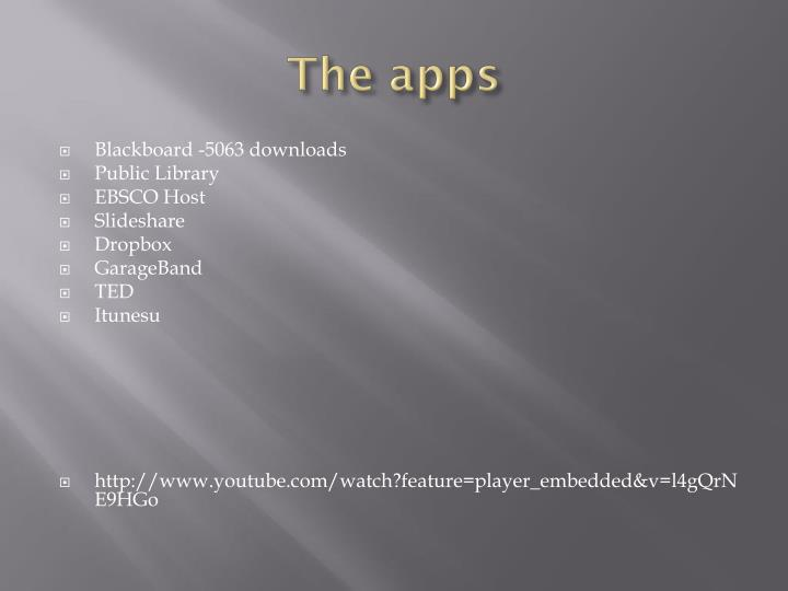 The apps
