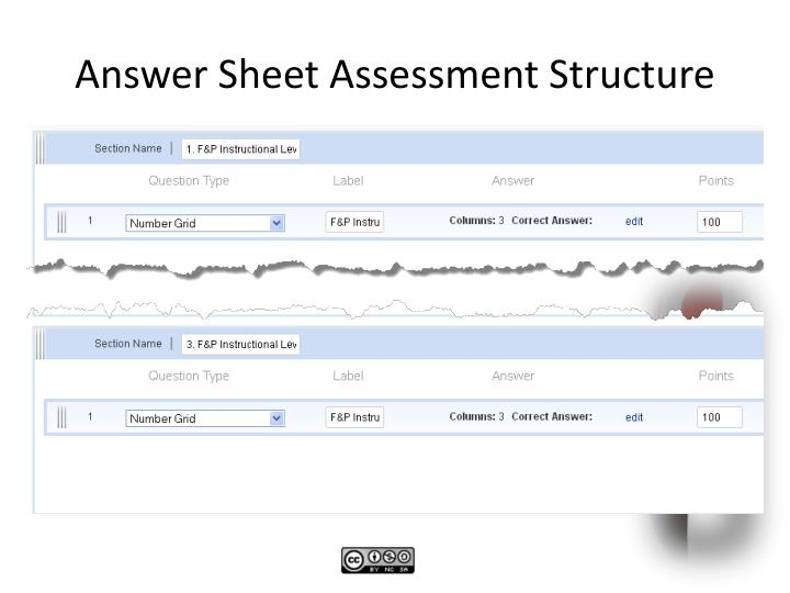 Answer Sheet Assessment Structure