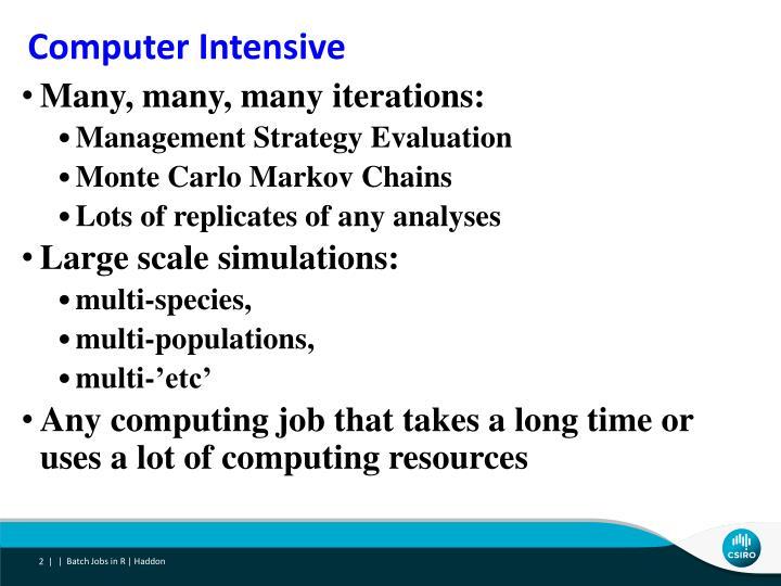 Computer Intensive