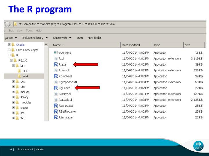 The R program