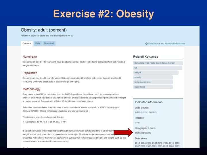 Exercise #2: Obesity