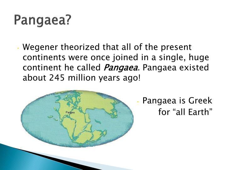 Pangaea?