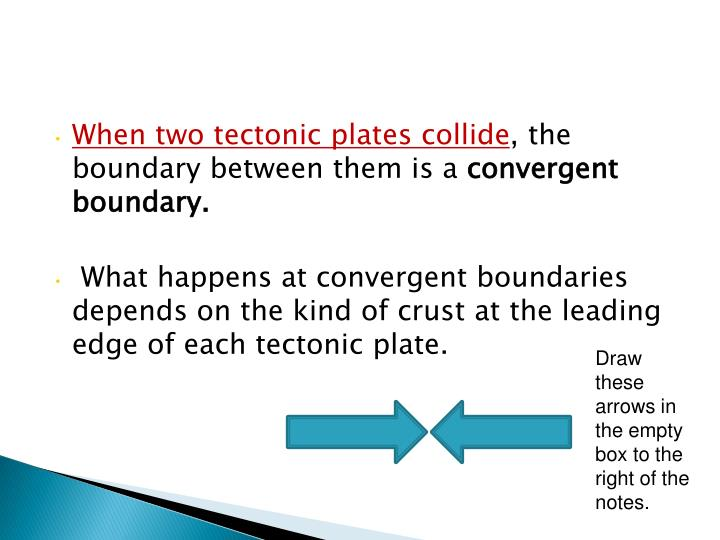 When two tectonic plates collide