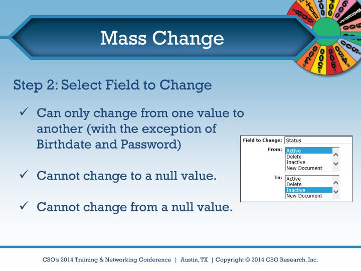 Mass Change