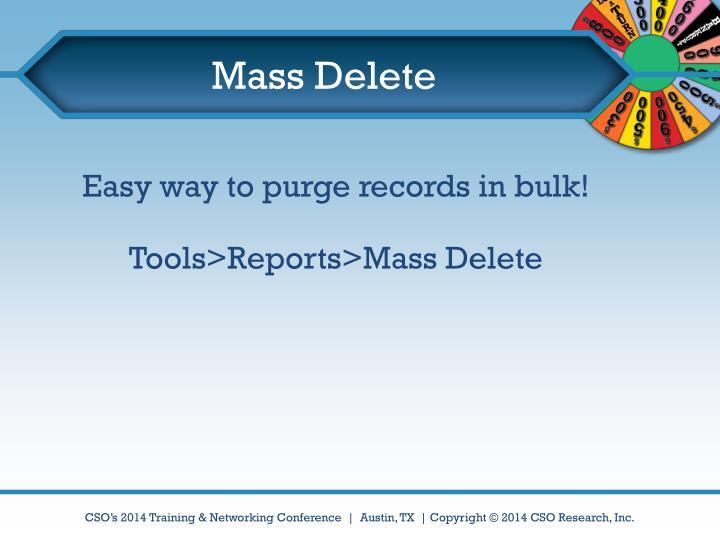 Mass Delete