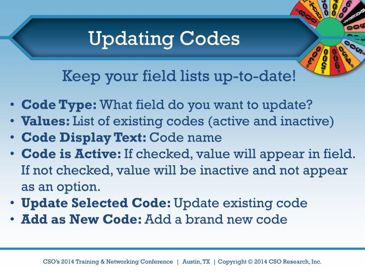 Updating Codes