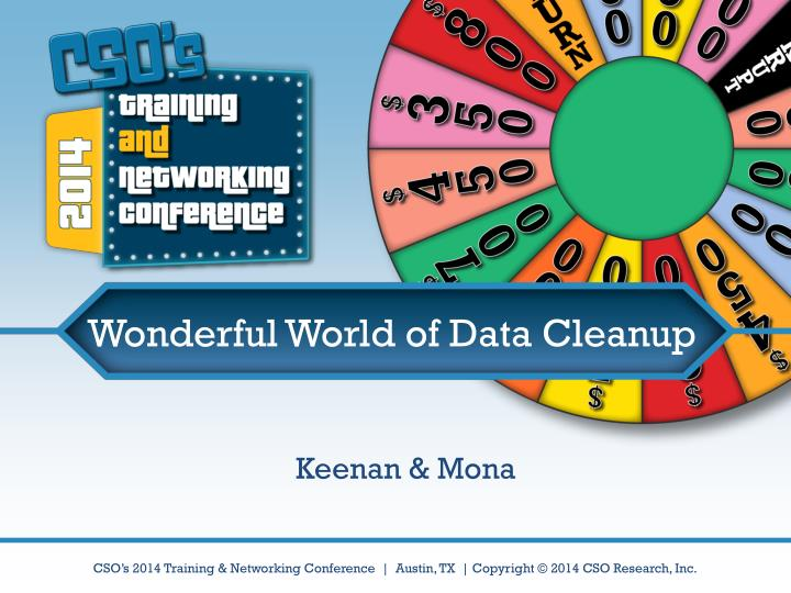 Wonderful world of data cleanup