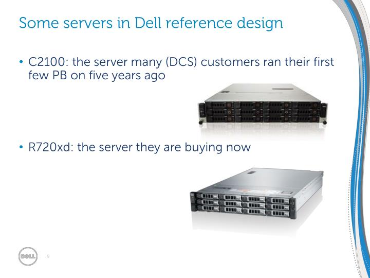Some servers in Dell reference design