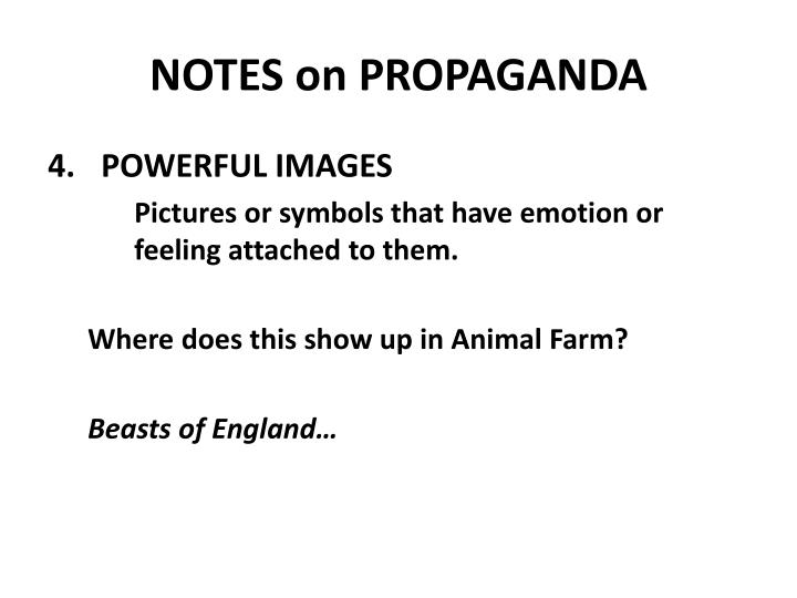 NOTES on PROPAGANDA