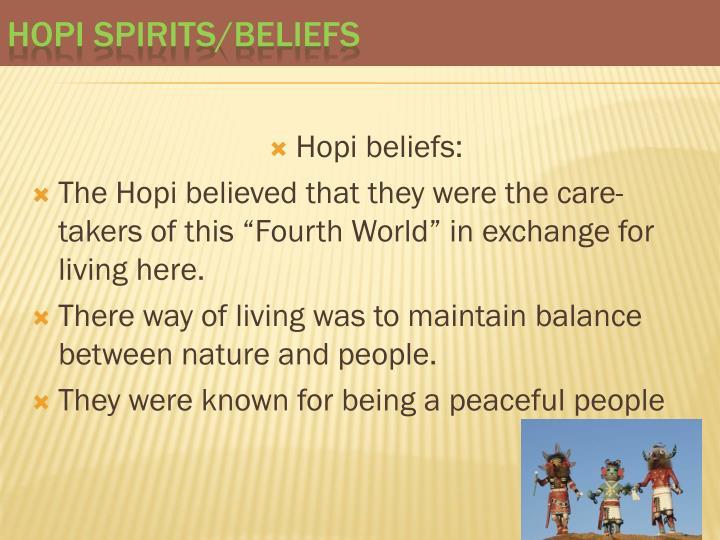 Hopi beliefs: