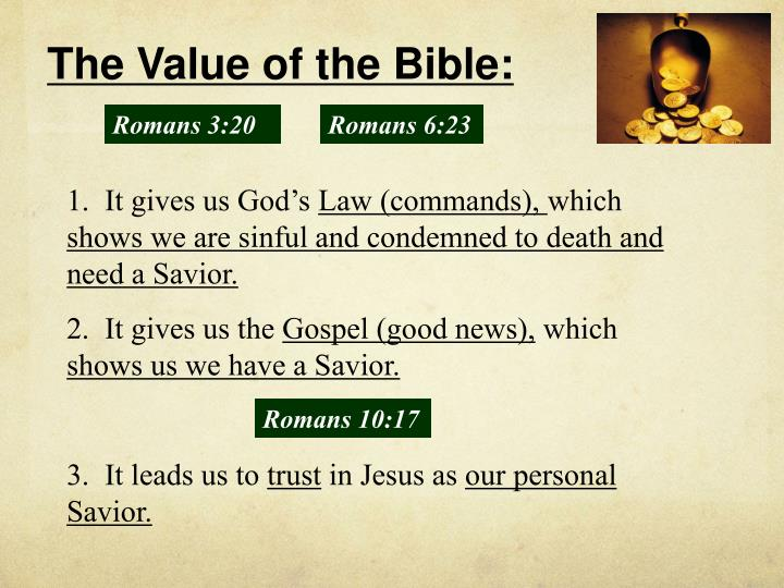 The Value of the Bible: