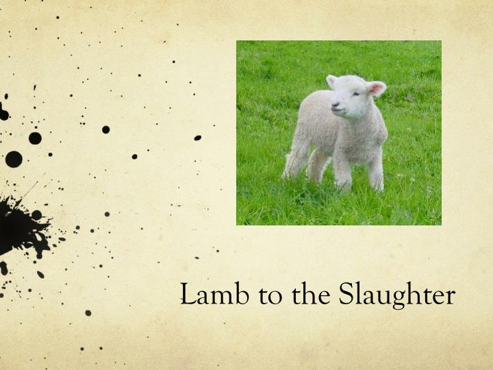 essays on lamb to the slaughter