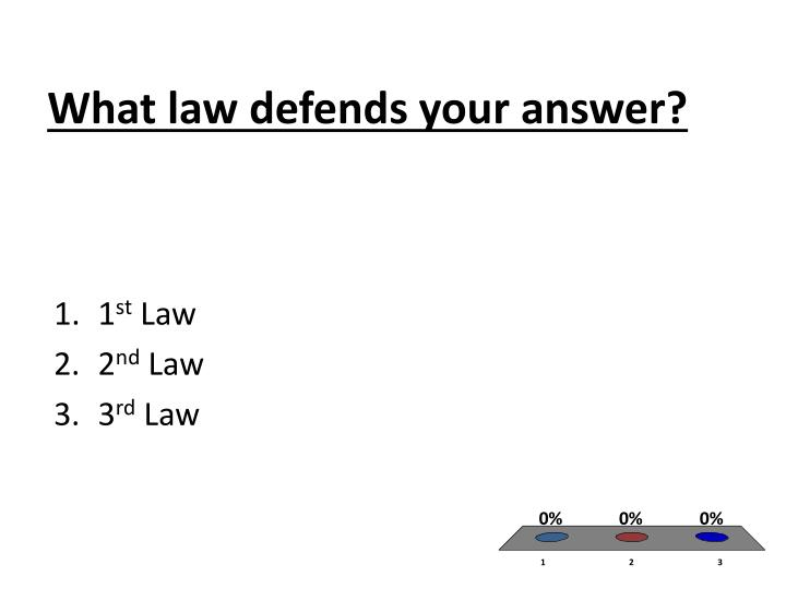 What law defends your answer?