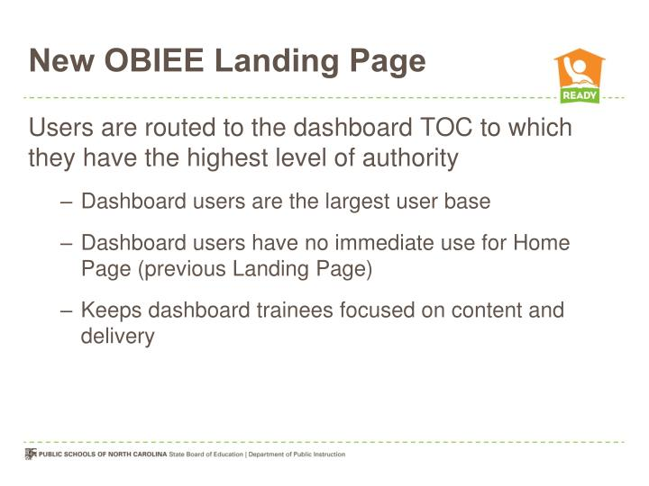 New OBIEE Landing Page