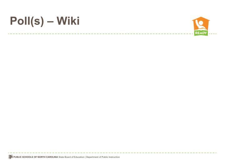 Poll(s) – Wiki