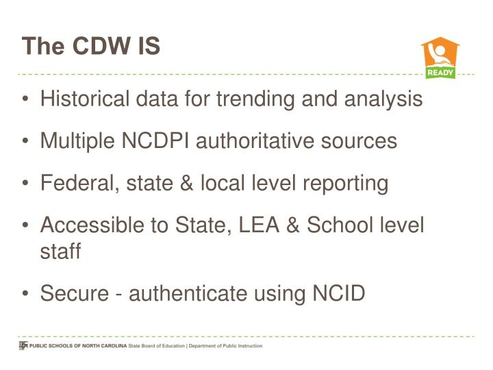 The CDW IS