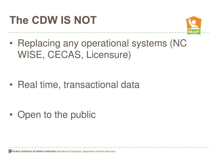 The CDW IS NOT