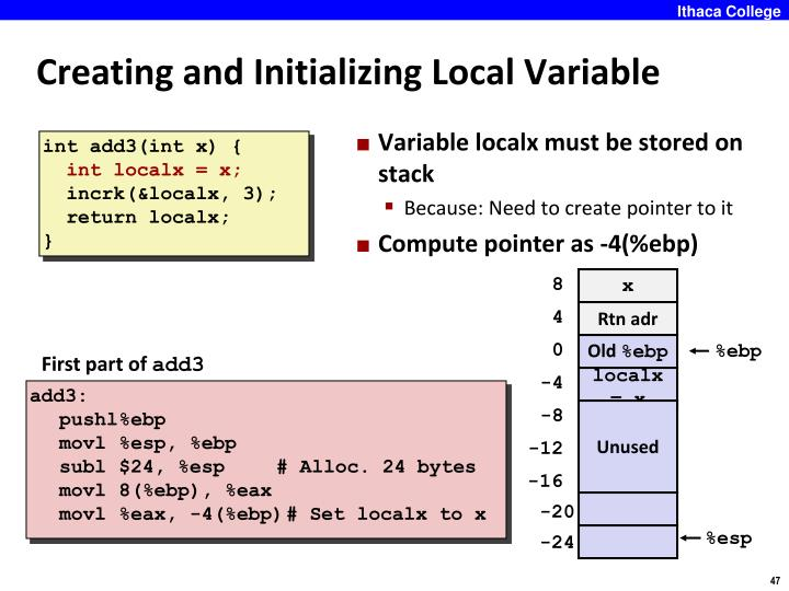 Creating and Initializing Local Variable