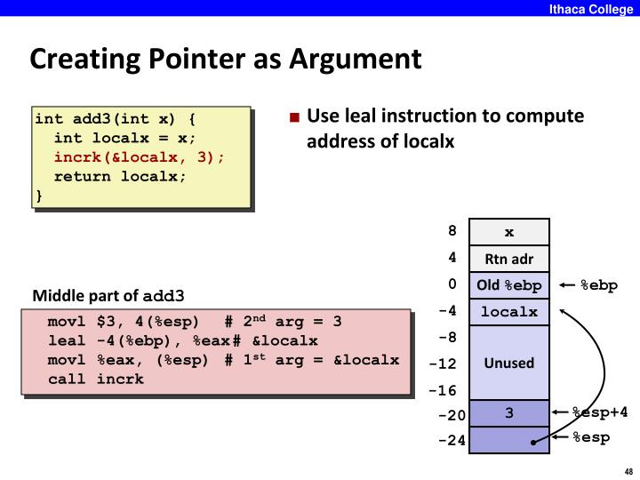 Creating Pointer as Argument