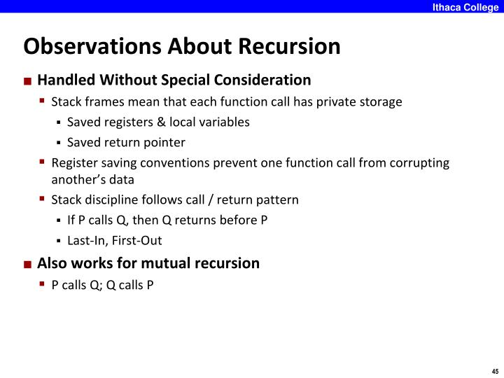 Observations About Recursion