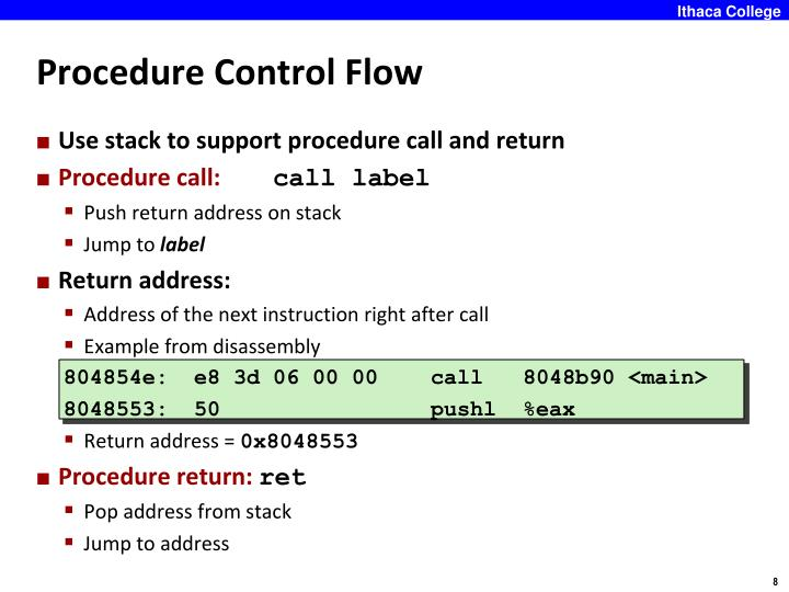 Procedure Control Flow
