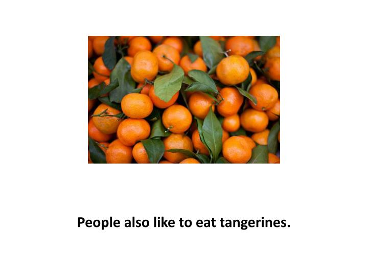 People also like to eat tangerines.