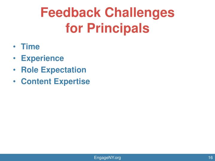 Feedback Challenges