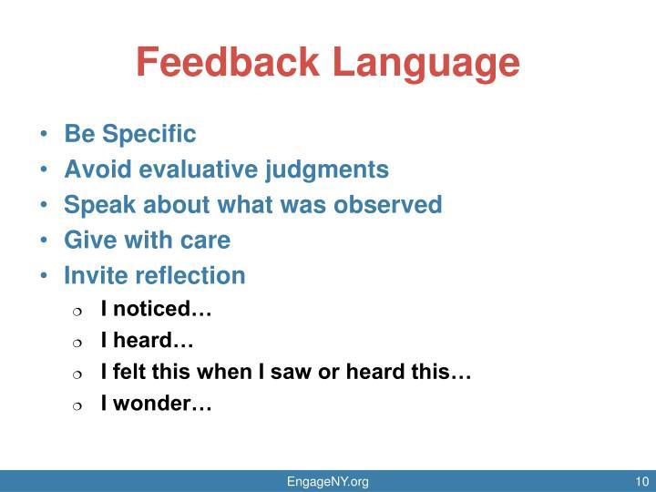 Feedback Language
