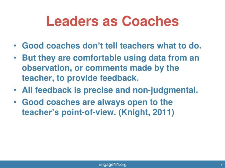 Leaders as Coaches