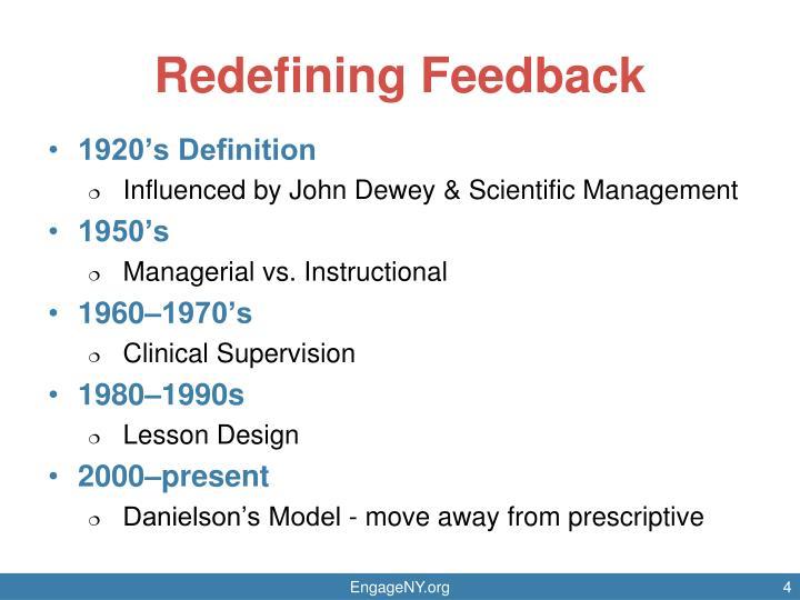 Redefining Feedback