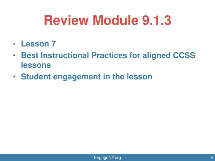 Review Module 9.1.3