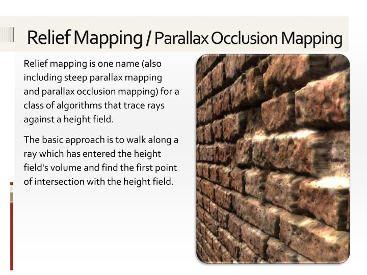 Relief Mapping /