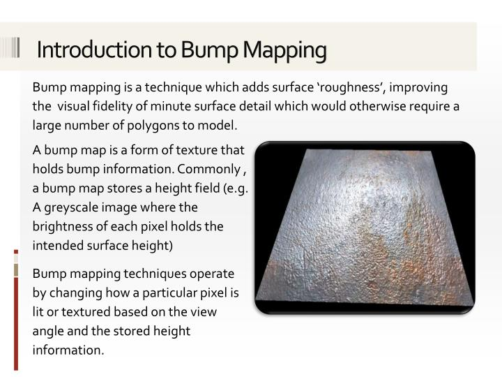 Introduction to Bump Mapping