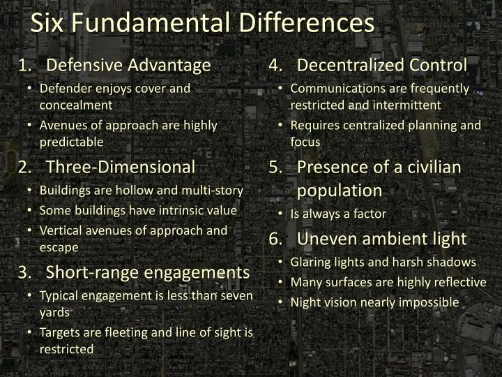 Six fundamental differences