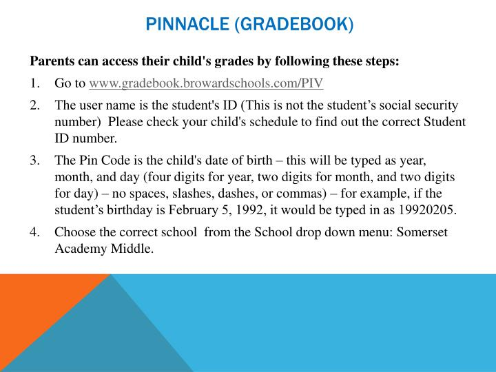 PINNACLE (GRADEBOOK)